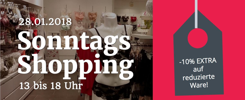 Sonntags-Shopping bei Feine Wäsche